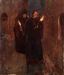 Rome_Procession-in-the-Catacomb-of-Callistus