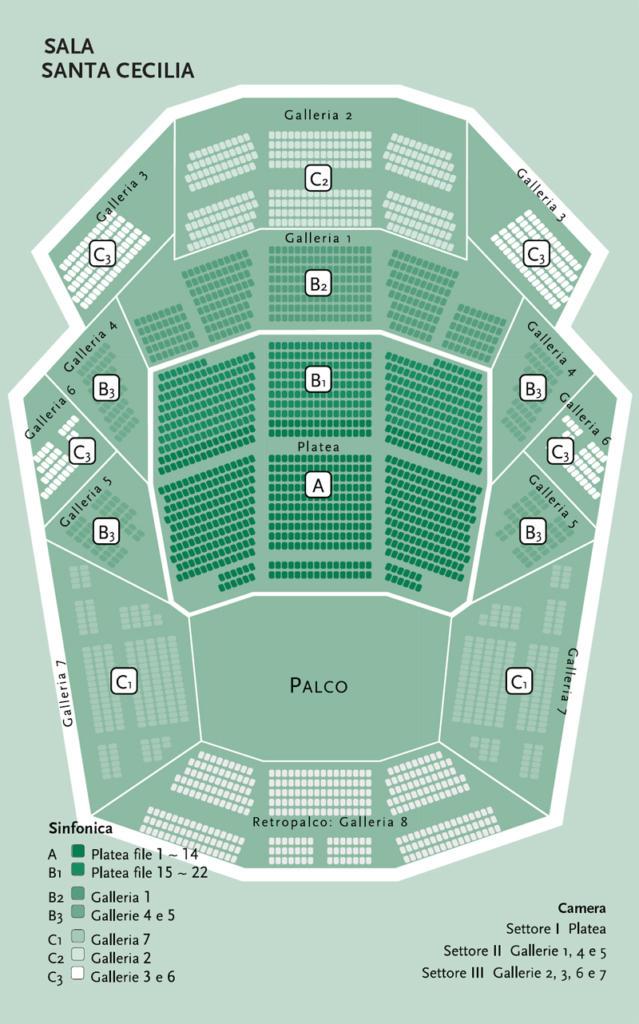 Santa Cecilia hall - Auditorium parco della musica - Roma