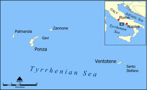 isole_pontine_islands_map