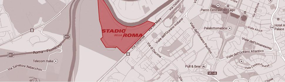 Stadio_della_roma_location