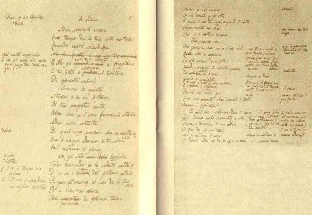 """""""A Silvia"""" la poesia scritta a Pisa da Giacomo Leopardi"""