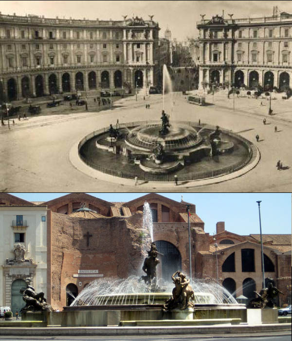 Fontana Esedra, Piazza Esedra (Piazza della repubblica), Roma The Fountain of the Naiads on Piazza della Repubblica