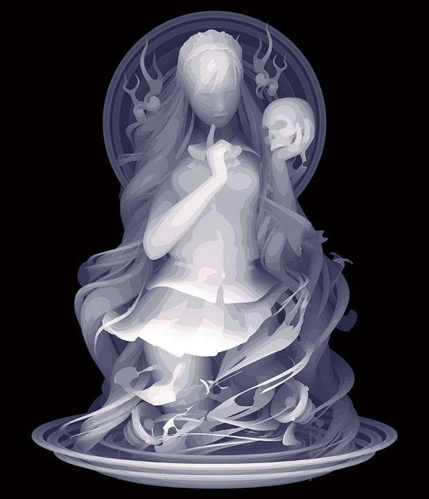 Kazuki Takamatsu_You & I_53 x 45.5cm_acrylic, acrylic gouache, medium, gesso, giclee on tarpaulin_dorothycircusgallery