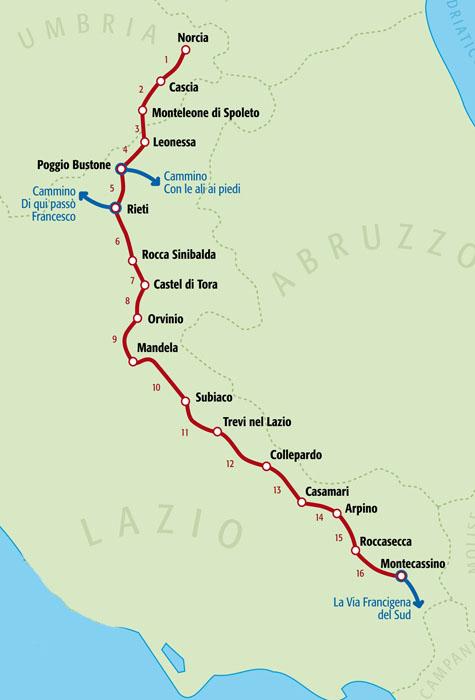 Cammino-di-San-Benedetto_Norcia-Subiaco-Cassino_Umbria-Lazio