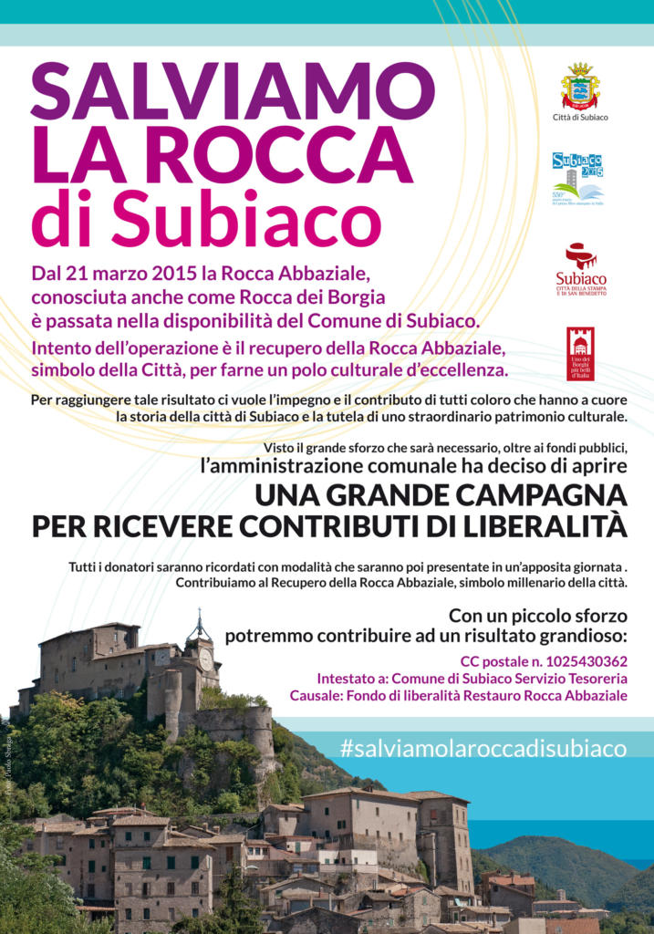 Locandina Campagna Salviamo La Rocca