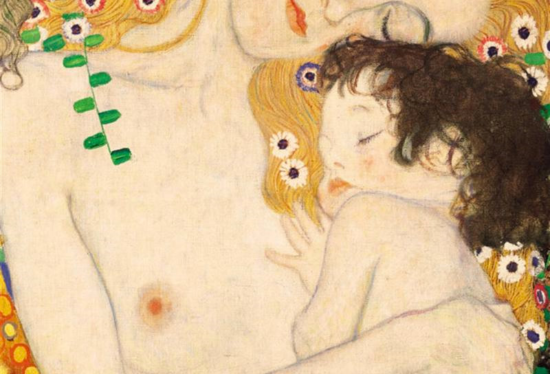 Gustav-Klimt_dettaglio_Donna-con-bambino_dipinto