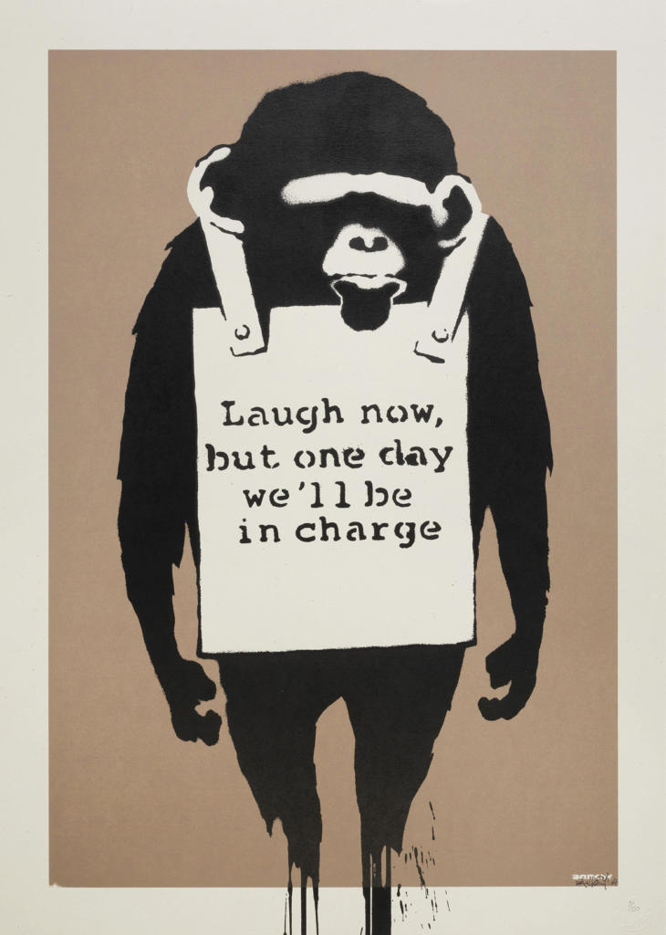 Banksy_2003_Laugh Now_Screenprint_mostraroma_rc