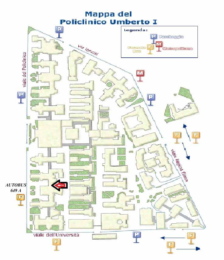Mappa Del Policlinico Umberto Primo Rome Central