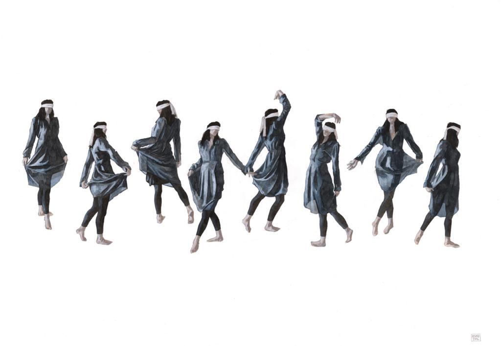 Hyuro_Baile como acto de resistencia (Dance as an act of resistance)100x70 cm