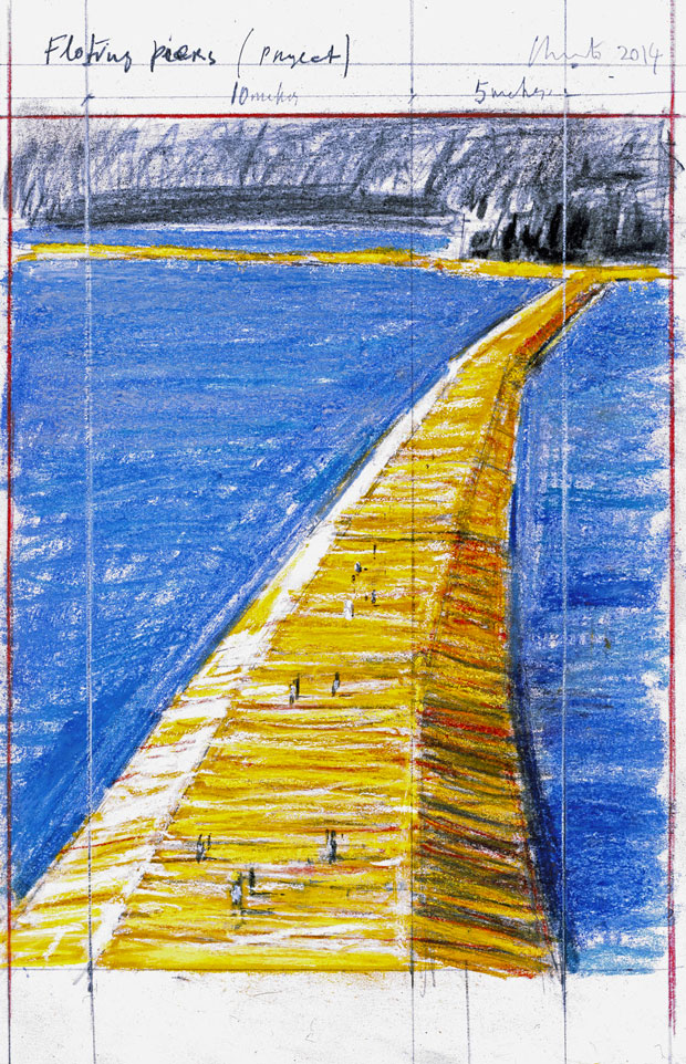 The-Floating-Piers_disegno-paint_opera_Christo