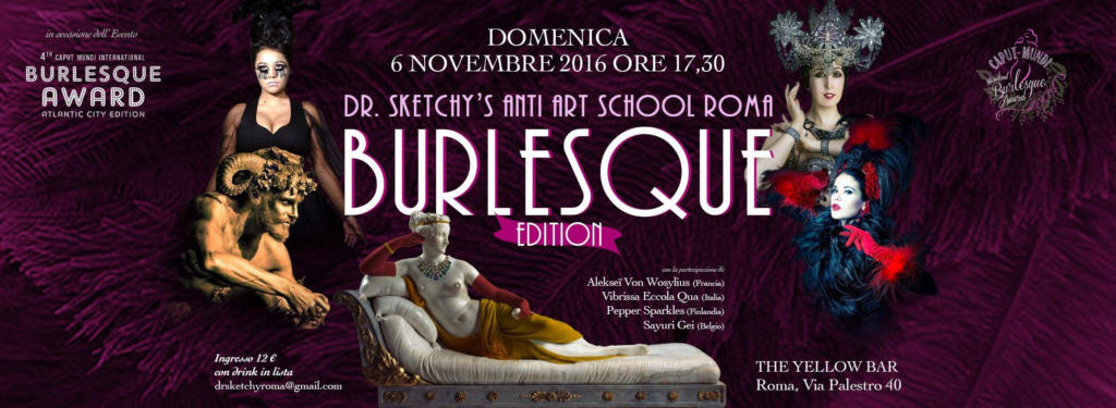 burlesque-roma-award-2016_dr-sketchy-painting-lab_laboratorio_disegno-dal-vivo