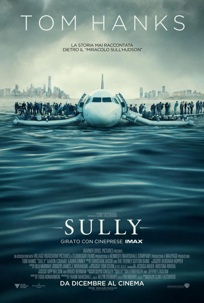 Film warner Sully di Clint Eastwood con Tom Hanks