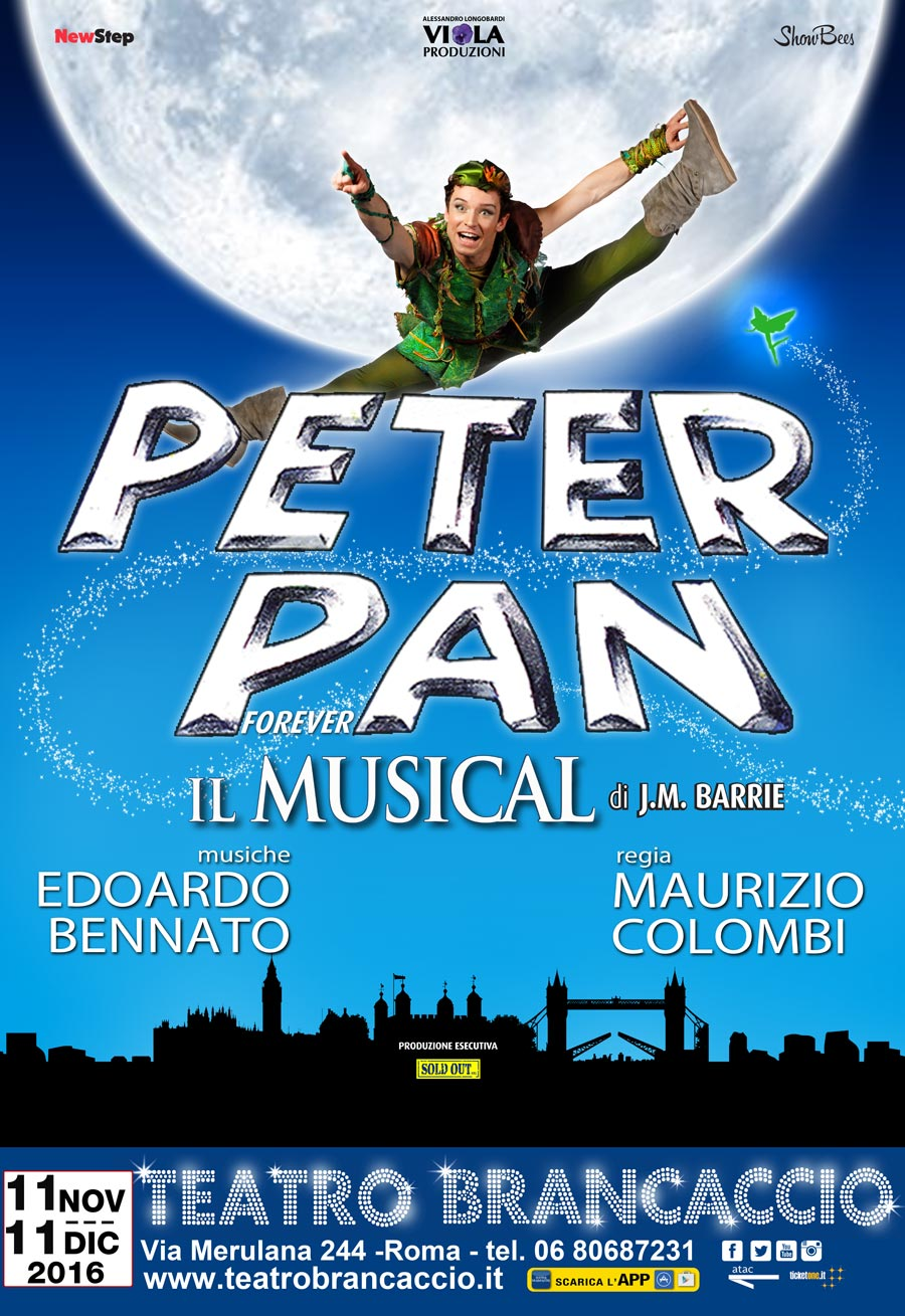 peter pan the musical rome central magazine italians in the world